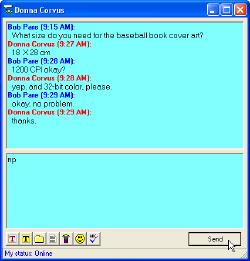MDaemon's WorldClient: Instant Messenger screen shot