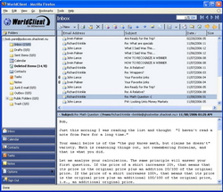 MDaemon's WorldClient: Email screen shot